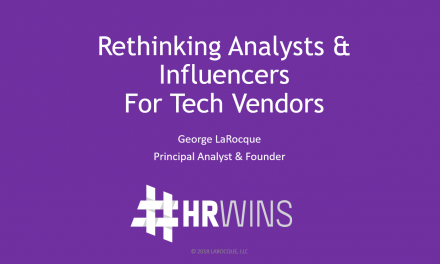 Rethinking HR Tech Analysts & Influencers